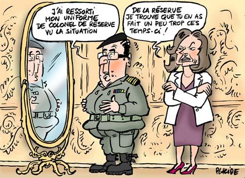 13-01-12-Hollande-Trierweiler-Mali Crédits : Placide
