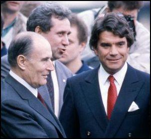 Capt -Tapie-Mitterrand Francois