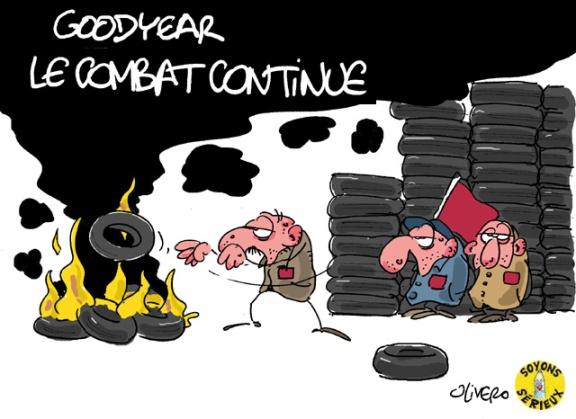 goodyear-amiens Crédits : Olivero dessins de presse http://teodessindepresse.wordpress.com/