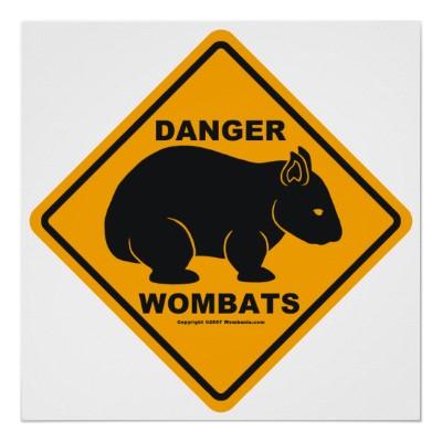 panneau_routier_de_danger_de_wombat_poster-r7bcc911160404d6bbd3e9f007ea5bcb8_w2g_400