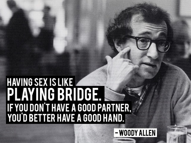 Woody Allen, actually