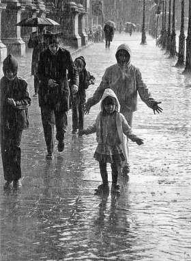 DOISNEAU-1385-Pluie-d-ete-PARIS-1981
