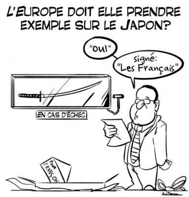 hollande japon economie relance dessin de presse caricature riton