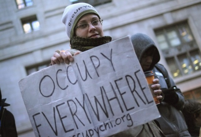 Occupy Chicago Holds Rally And March