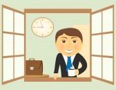12340586-dessin-anime-avec-homme-d-39-affaires-heureux-dans-la-fenetre-avec-la-tasse-de-cafe