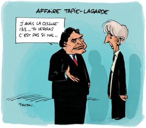 tapie-lagarde-credut-lyonnais-arbitrage-humour