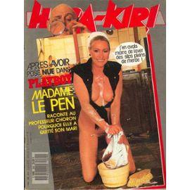 Hara-Kiri-N-299-Apres-Avoir-Pose-Nue-Dans-Playboy-Madame-Le-Pen-Raconte-Au-Professeur-Choron-Pourquoi-Elle-A-Quitte-Son-Mari-Revue-835619626_ML