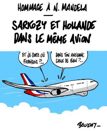 duo Hollande Sarkozy Airbus Afrique du Sud Mandela