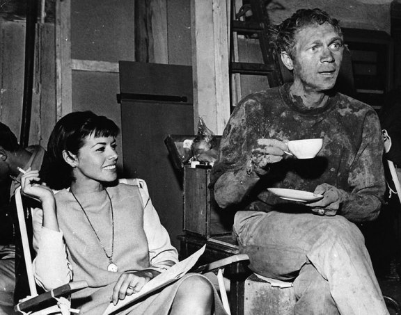 neile-adams-visits-husband-steve-mcqueen-on-the-set-of-great-escape-coffee