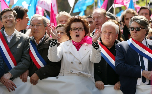 FRANCE-POLITICS-GAY-MARRIAGE-MANIF