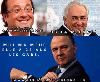 Hollande DSK Moscovici Les Bronzés