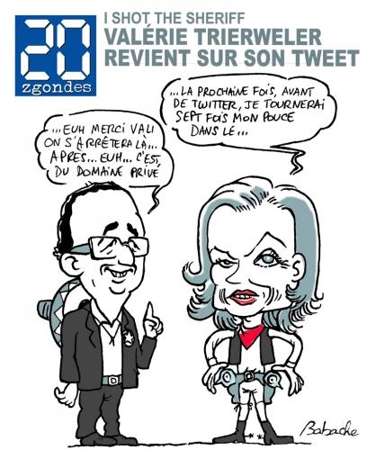 Hollande Trierweiler Humour