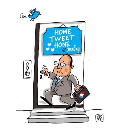 Home-tweet-home Hollande Paris France Humour