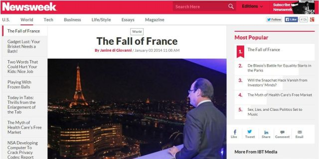 NEWSWEEK-facebook Fall of France Janine di Giovanni