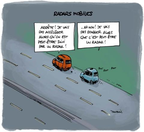 voiture-radar-mobile-autoroute-amende-pv-humour France