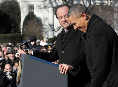White House Hollande Obama