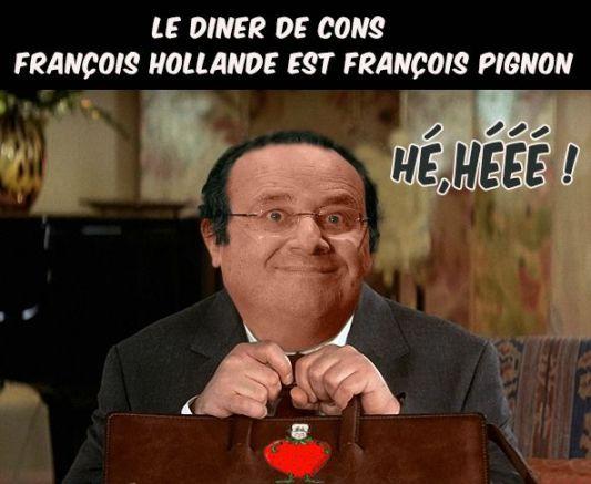 Hollande Dîner de Cons