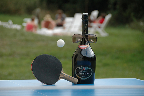 Ping Pong Champagne Humour