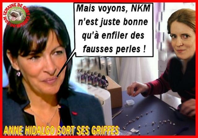 Anne Hidalgo NKM Paris #Paris2014 #Municipales2014