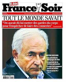 blog -France Soir DSK_tt monde savait_Une-18mai2011 France