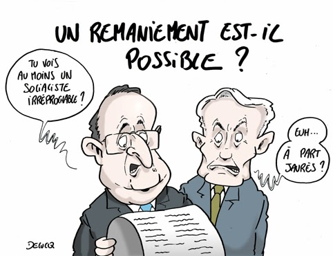 blog -remaniement par Hollande selon_delucq Hollande Paris France PS