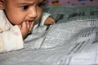 HUMOUR BABY READING NEWS