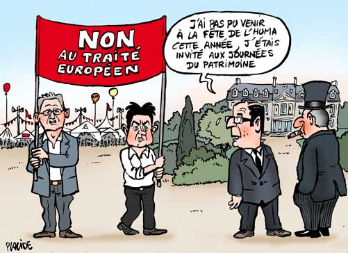 12-09-16-laurent-melenchon-hollande Valls Remaniement PS Valls Charlot Les Charlots France Paris Humour