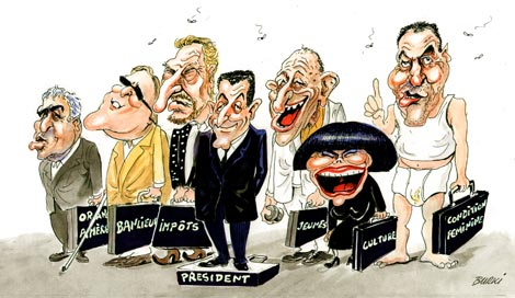 Sarkozy UMP Remaniement PS Valls Charlot Les Charlots France Paris Humour