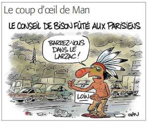 Man Paris Pollution Humour