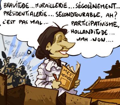 Segolene Royal Chine Remaniement PS Valls Charlot Les Charlots France Paris Humour