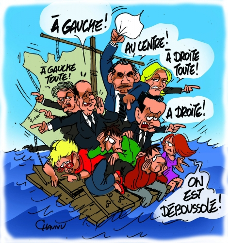 le-radeau-de-la-meduse-humour France Hollande Valls Remaniement Remaniement PS Valls Charlot Les Charlots France Paris Humour