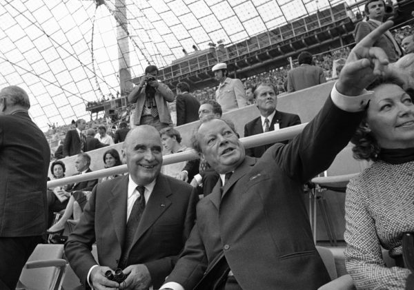 Germany Munich Willy Brandt and Georges Pompidou