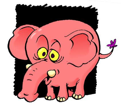 éléphant-rose