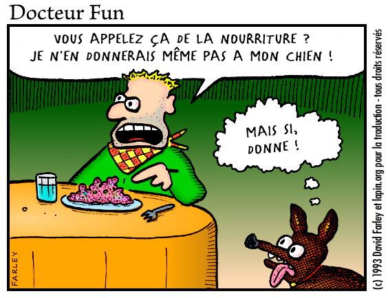 nourriture chien joie humour