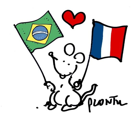 Plantu France Brésil Humour
