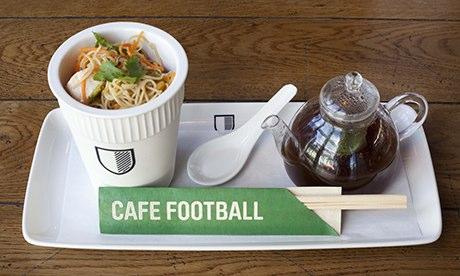 Nev's noodle pot, Cafe Football