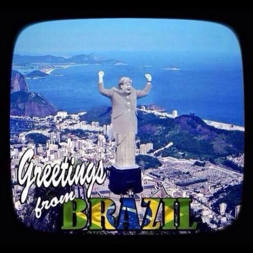Brésil Allemagne Merkel Football