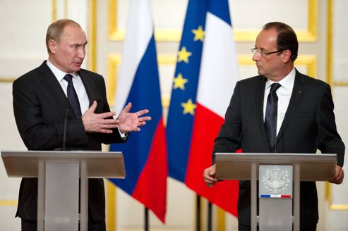 FRANCE-RUSSIA-SYRIA-POLITICS-UNREST-PUTIN-HOLLANDE