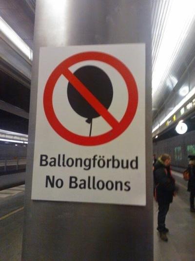 no balloons