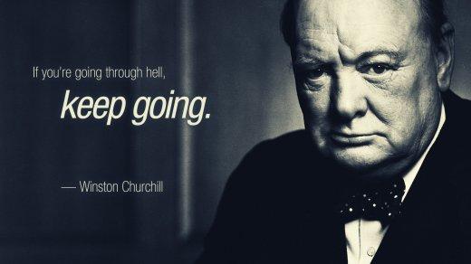 winston-churchill Keep going
