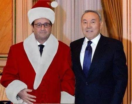 François Hollande Kazakhstan Pere Noel