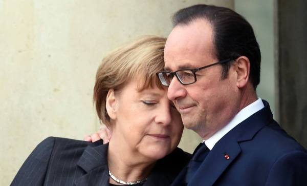 Merkel Hollande #JeSuisCharlie