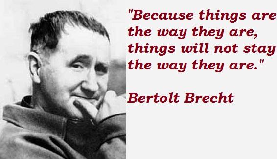 Bertolt Brecht Citation