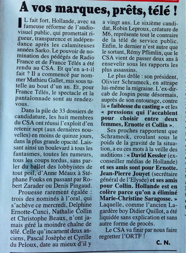 Canard CSA France TV
