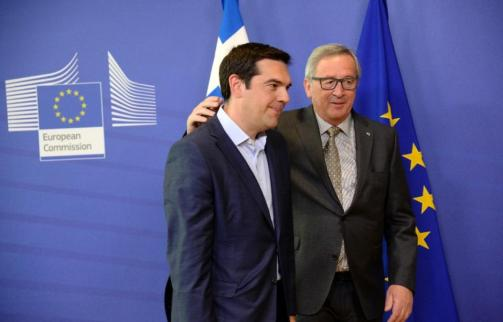Tsipras Juncker 3 juin 2015 Crédit : Thierry Charlier AFP