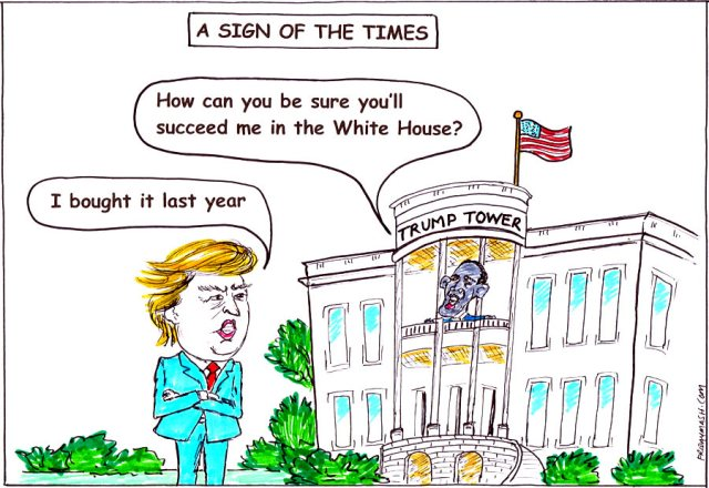 A-Sign-of-the-Times-cartoon-with-Trump-and-Obama-at-The-White-House