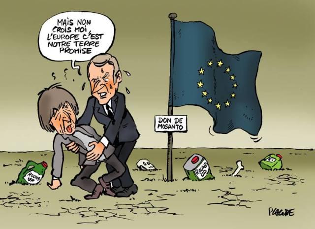 Glyphosphate Hulot Macron Europe France
