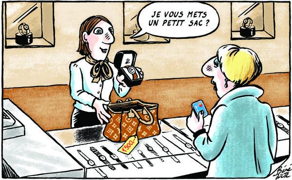 """dessin paru dans """"24heures"""", Lausanne"""