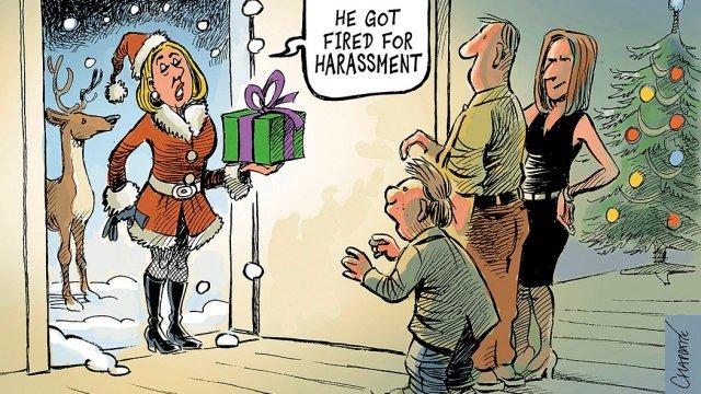 Santa Harassment Chappatte